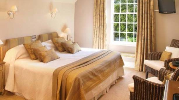 A bedroom at the Old Rectory Hotel