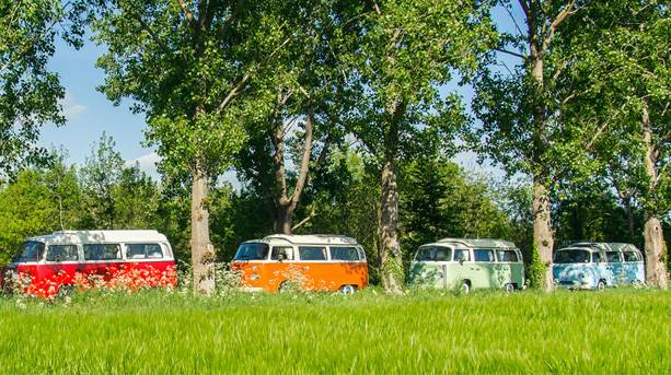 Red Hatch Classic Campers