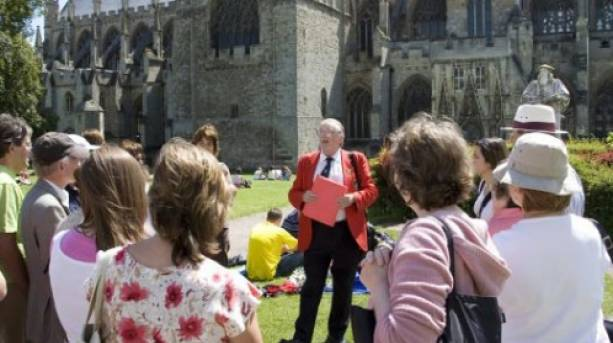 Exeter Red Coat Guided Tour in Cathedral Close