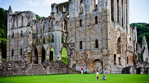 Rievaulx Abbey, one of England's greatest and most atmospheric abbey ruins