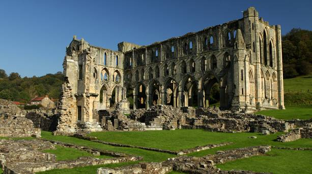 The beautiful and tranquil ruins of Rievaulx Abbey