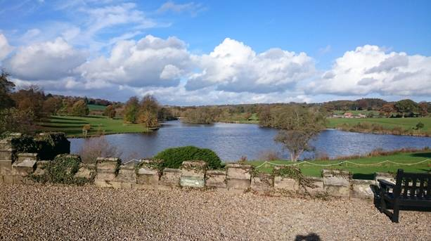 View of lake from Ripley Castle