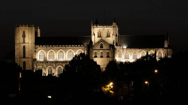 Floodlit Ripon Cathedral