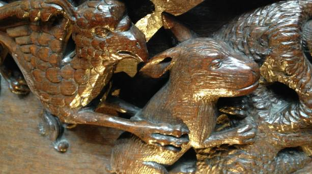 Ripon Cathedral rabbit misericord