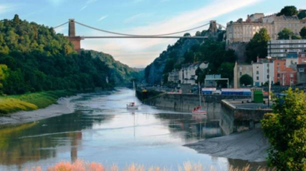 River Avon and Suspension Bridge in Bristol