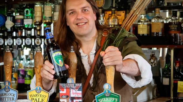 Robin Hood on a brewery tour in Nottingham