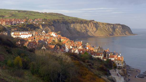 The old fishing and smuggling village of Robin Hood's Bay in the North York Moors National Park