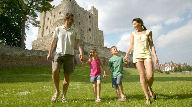 Family visit to Rochester Castle