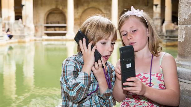 Children at the Roman Baths