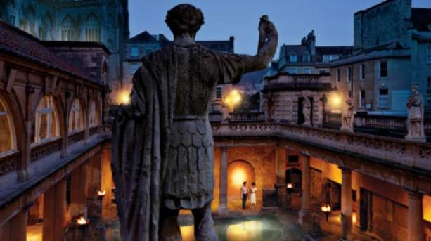 The Great Bath and statue