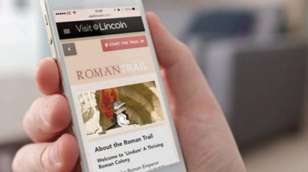 Roman trail phone app