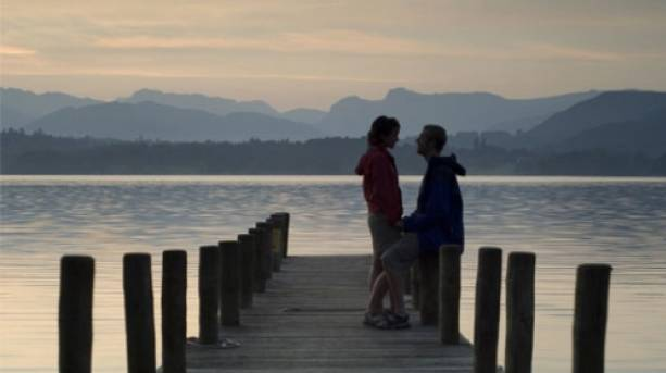 A couple at Lake Windermere