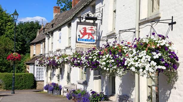 Outside the Red Lion Inn