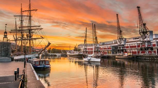 Bristol Harbourside sunset