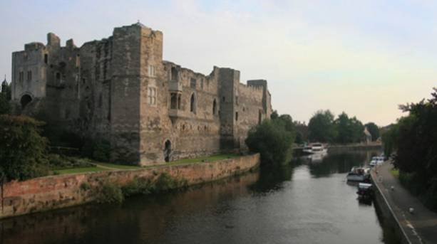 Newark Castle and the River Trent