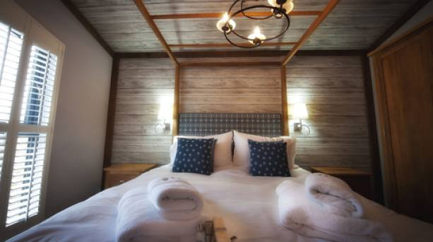 Inside a bedroom at Sherwood Hideaway, Nottinghamshire