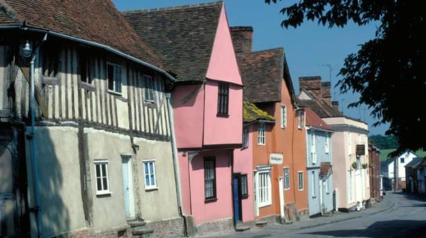 Period houses in Lavenham, Suffolk