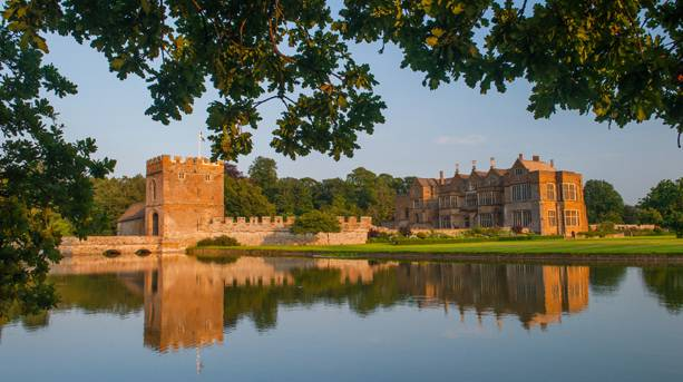 Lake view of Broughton Castle