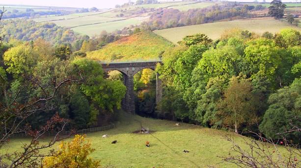 Viaduct built in 1844 by Joseph Locke