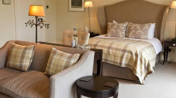 A bedroom inside Tickton Grange in Beverley