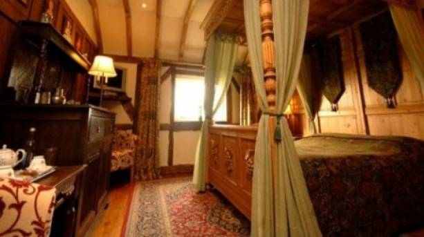 A princess bed inside Wolds Village, Yorkshire Wolds
