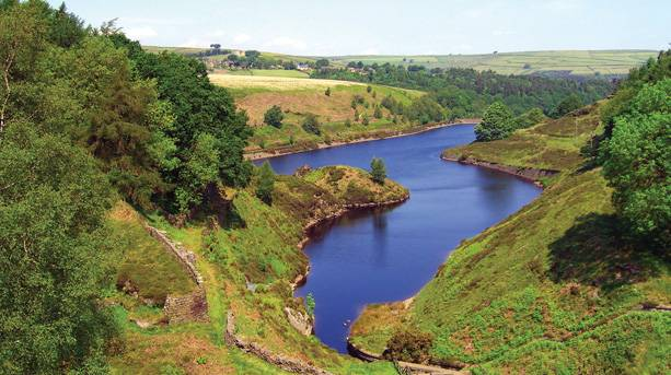 Ramsden Reservoir in the Holme Valley