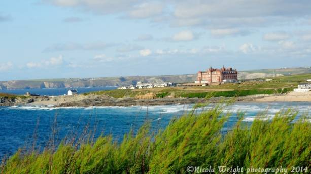 Headland Hotel and Fistral beach