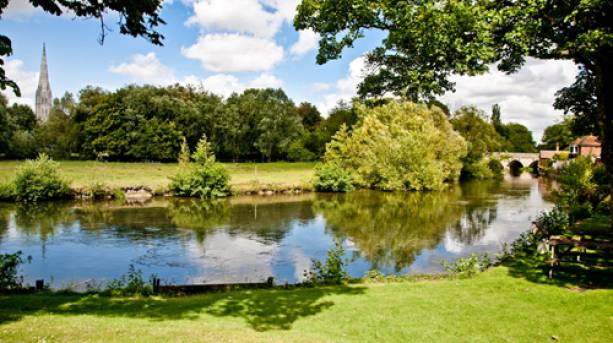 A lake outside The Legacy Rose Crown Hotel, Wiltshire
