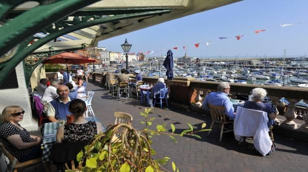 Dining overlooking Ramsgate Royal Harbour