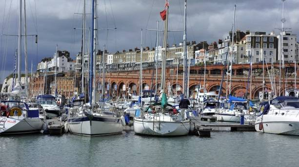 Looking across Ramsgate Royal Harbour to the arches