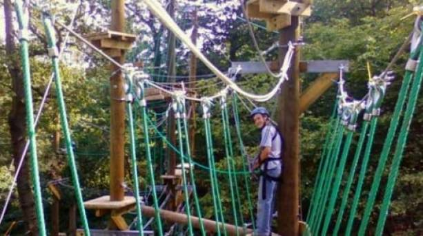 On the high ropes at Rope Runners