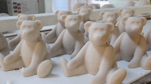 Royal Crown Derby Teddy Bears before decoration