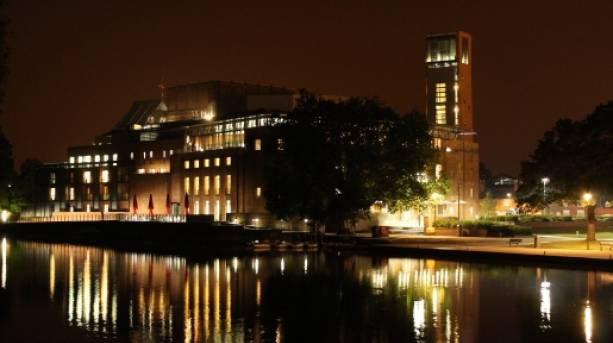 Royal Shakespeare Theatre at night