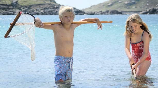 Playing on Bryher Island, Tresco