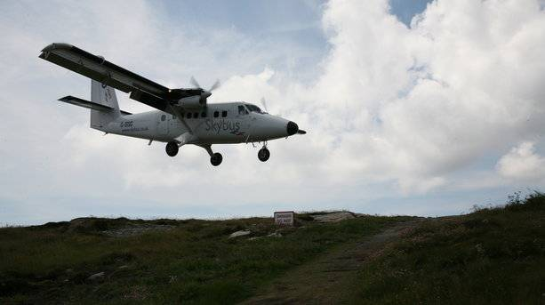 Flying in to the Isles of Scilly