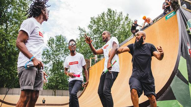 Performers at the Skate Ramp