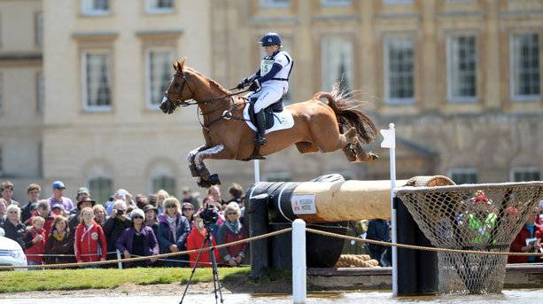 L Collett at the Badminton Horse Trials