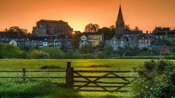 Malmesbury at Sunset, Wiltshire