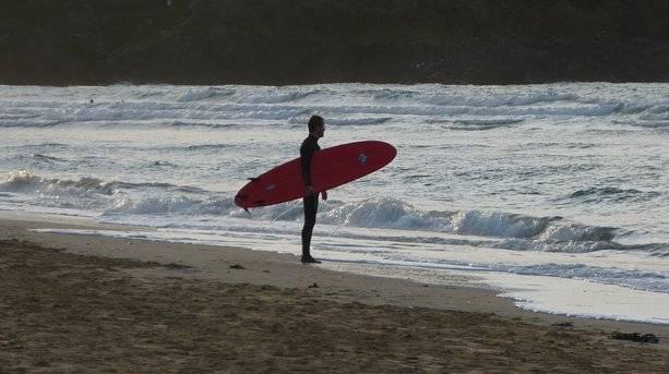 Crantock Surfer in Newquay