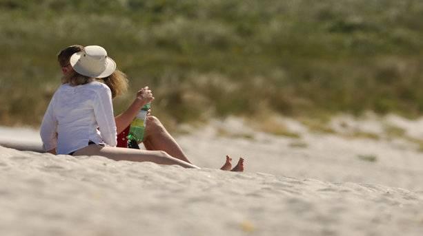 Couple Enjoying a Scilly Beach
