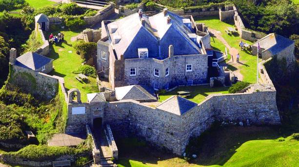 St Mary's Star Castle Aerial View