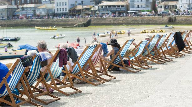 Deckchairs in St Ives