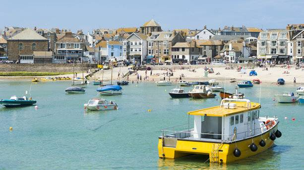 A Beach Town in St Ives