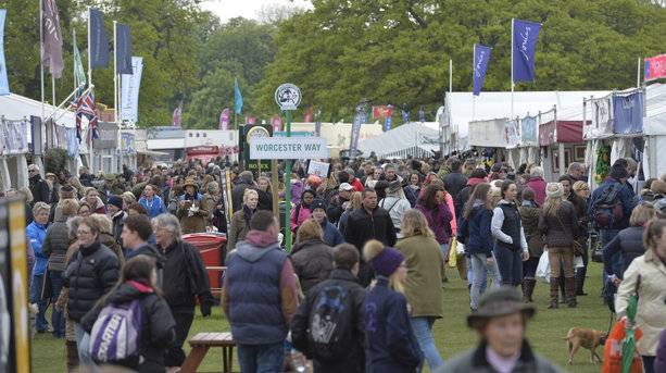 Trade Stands at the Badminton Horse Trials