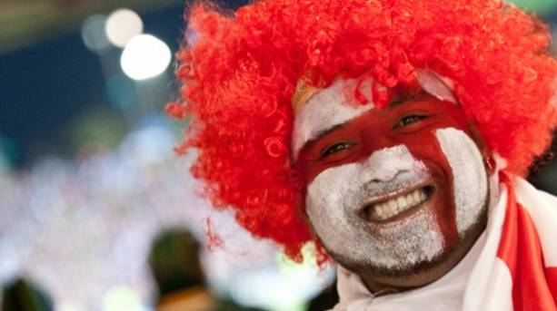 An England Rugby fan