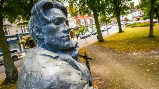A statue of Rupert Brooke