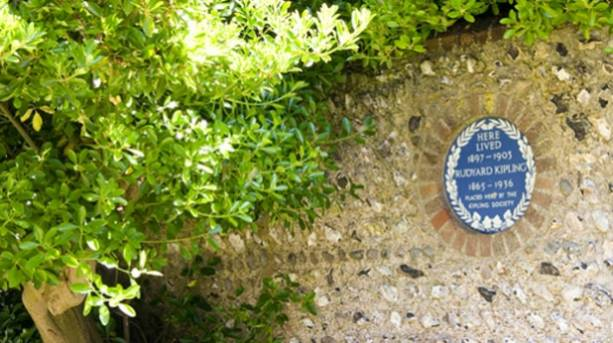 Photo of a Blue Plaque within Kipling Gardens