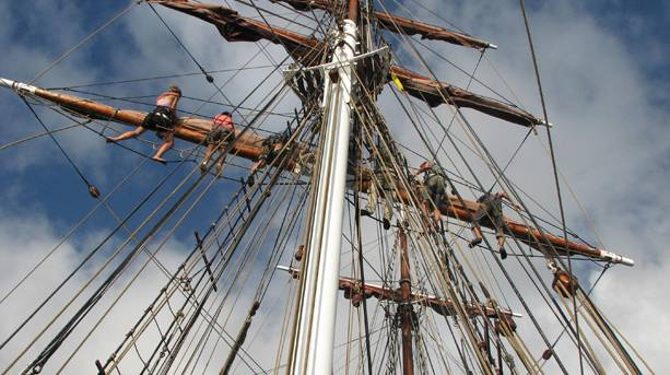 Mast of sailing ship in Greenwich