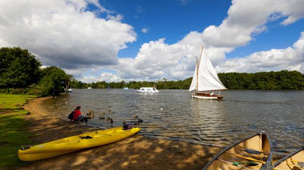 Sailing on the Broads in Norfolk