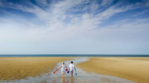 Children playing on Holham Beach
